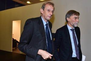 MICO, FieraMilanoCity, 33esima Assemblea Nazionale dell' ANCI, sottosegretario Graziano Delrio con sindaco Piero Fassino