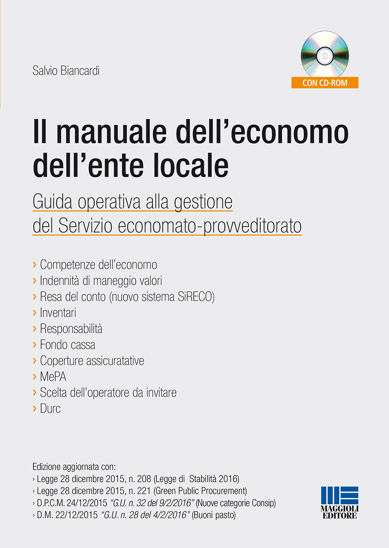 Il manuale dell\'economo dell\'ente locale