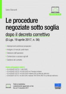 procedure negoziate sotto soglia